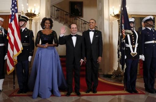 オランド大統領&オバマ大統領夫妻