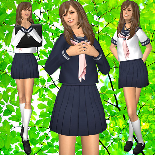 mesh closet Costumeplay School Sailor