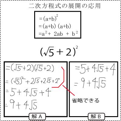 二次方程式の展開3