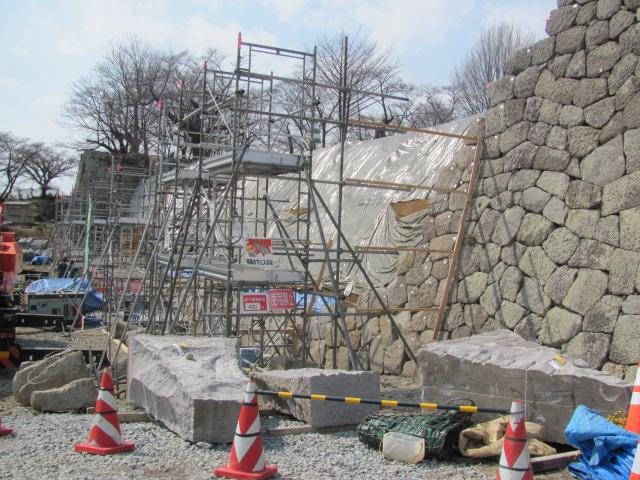 小峰城石垣修復現場公開2014・03・16F
