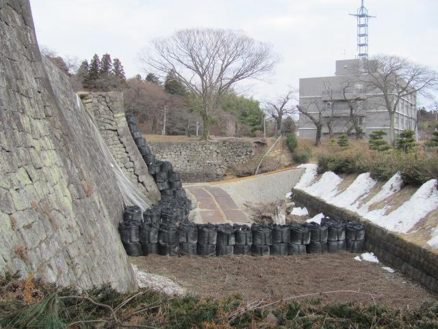 小峰城石垣修復現場公開2014・03・16H