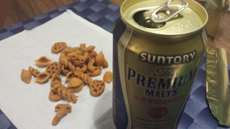 サクットパスタとビール!仕事終わりの小さなしあわせですw