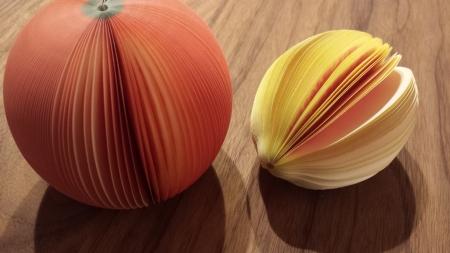 3Dフルーツメモ帳のオレンジとLEMON
