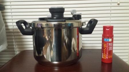 T-fal Clipso 6L 圧力鍋 [ティファール クリプソ オアシス 6リットル]サイズ比較画像
