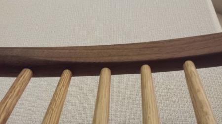 KASHIWA CIVILダイニングチェア 背もたれの削り加工