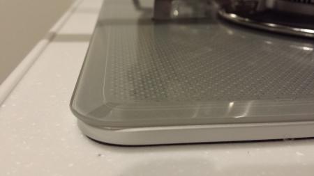 パロマ新型ビルトイン「crea(クレア)」PD-900WV-60GVベベルカットのガラストップ天板