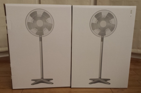 プラスマイナスゼロの扇風機を2台購入しました。