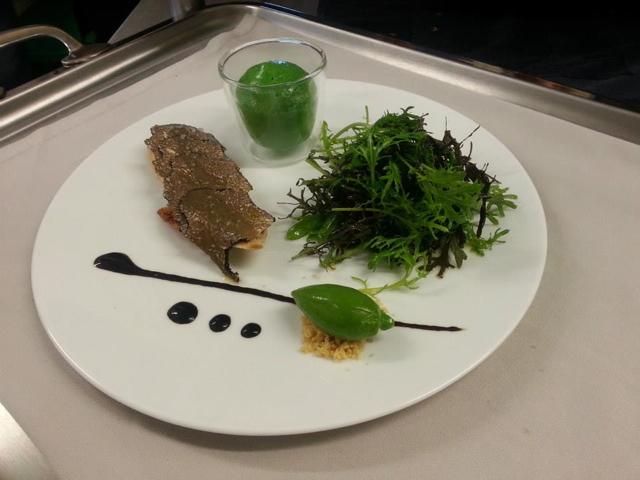 déclinaison de textures sur la salade