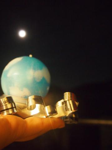 満月と丸い空と360x