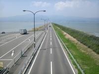 諫早湾干拓堤防道路(雲仙多良シーライン) (4)