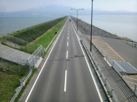 諫早湾干拓堤防道路(雲仙多良シーライン) (3)