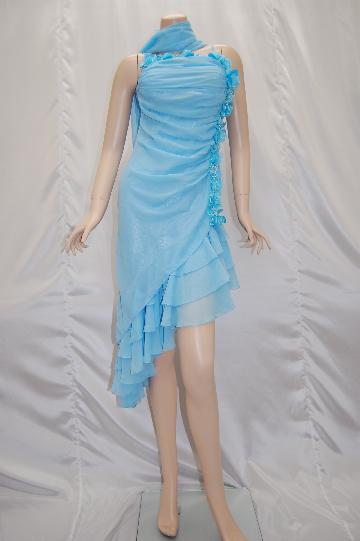 胸元花畑 ミディアム ドレス