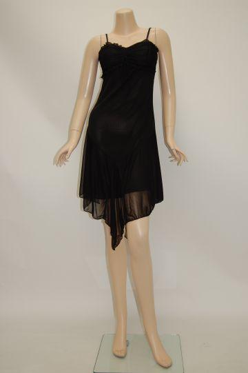 ひらひらデザインヘム ミディアムドレス