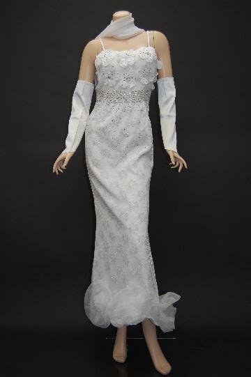 プリカワお花レース ロングドレス