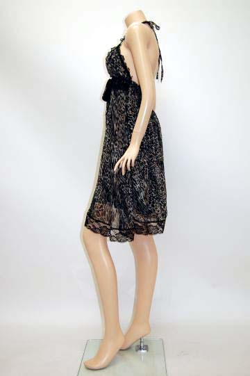 sweet豹柄 ミディアムドレス