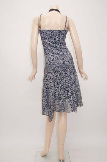 シフォンホルターネック小花柄 ミディアムドレス