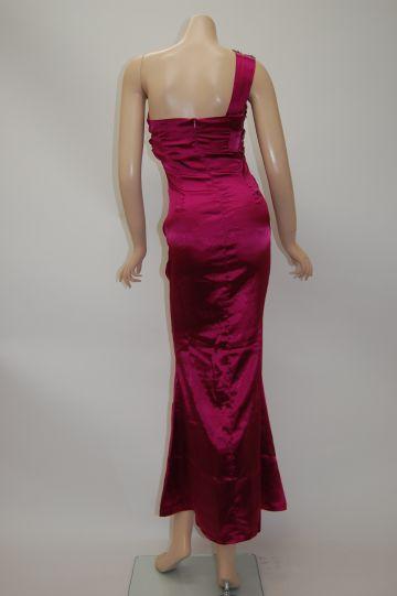 ワンショルダー魅惑の舞 ロングドレス