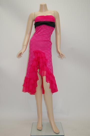 シフォンフリル嬢 ミディアムドレス