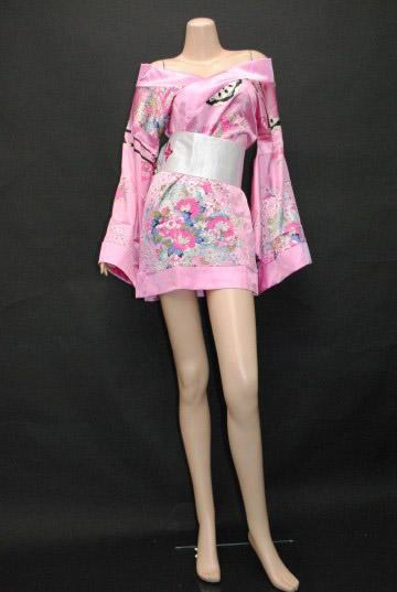 お色気セクシー着物風 ショートドレス