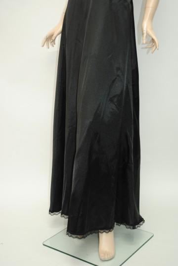 でかラインストーンサテンリボン ロングドレス