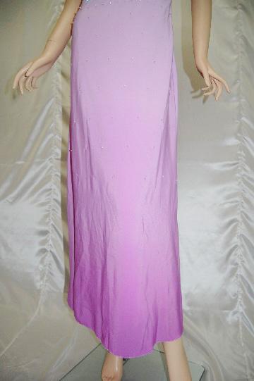 総ビーズグラデーション ロングドレス