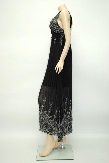 エスニックシフォン ロングドレス