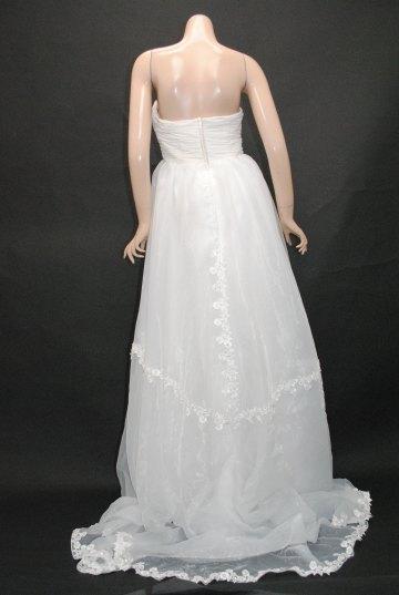 小花ふんわりエンパイアトレーン ロングドレス