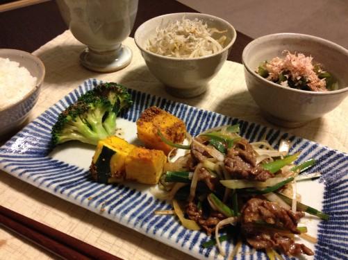 Feb05_牛肉と長葱の味噌炒め