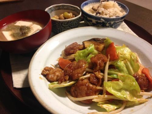 Feb26_豚肉と野菜の辛味噌炒め