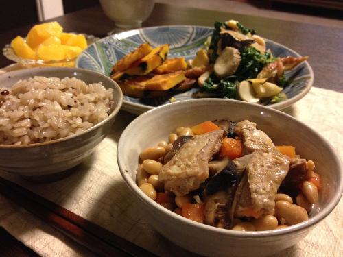 Mar13_鶏肉と大豆煮