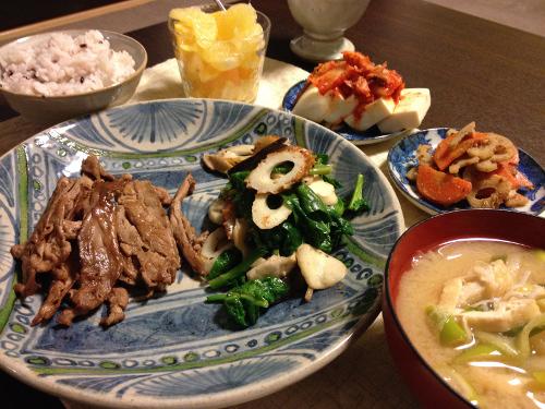 Mar20_豚肉焼き