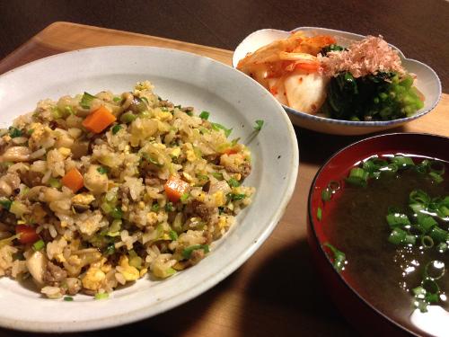 Apr16_6種の野菜と豚肉の炒飯