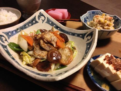 May12_ぶりの野菜あんかけ