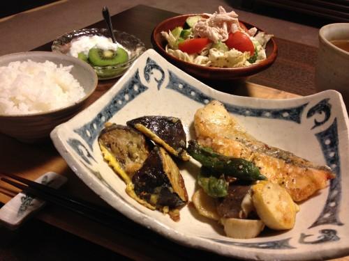 Jly07_鮭と野菜の卵衣焼き