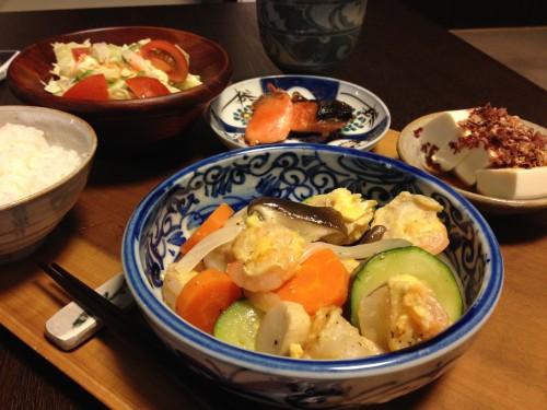 Jly10_エビと野菜炒のさっぱり炒め