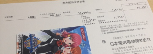 9432 日本電信電話 配当金