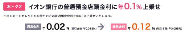イオン銀行 普通預金 キャンペーン金利
