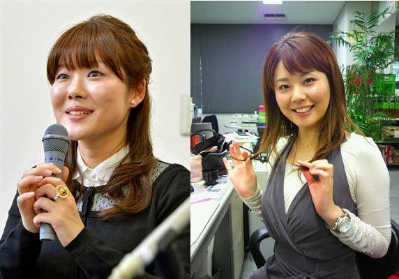 左:小保方晴子さん、右:出口麻綾さん