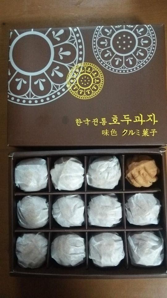 平成26年8月韓国クルミ菓子