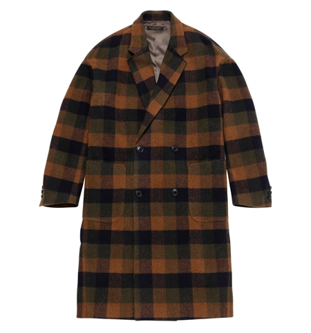 CO05 BLOCK CHECK CHESTER COAT MOSS_R