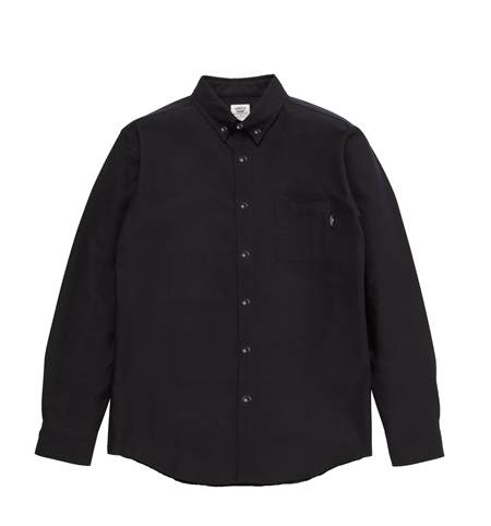 SH05 BASIC OX BD L SHIRTS BLK_R