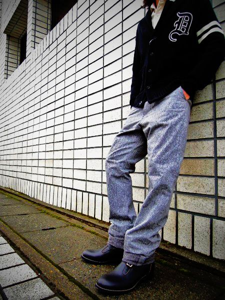 Delinquent Bros Black chambray pants
