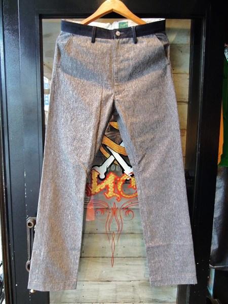 Delinquent Bros  Black chambray pants