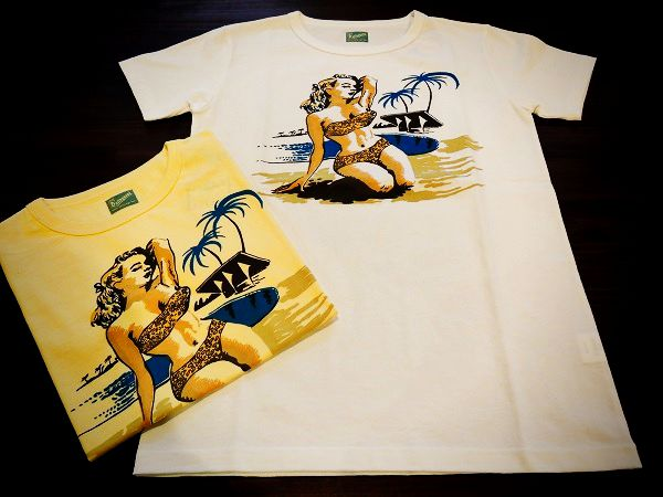 Delinquent Bros BEACH PIN UP Tee