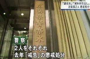 広島県警懲戒処分