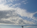 雲モコモコ