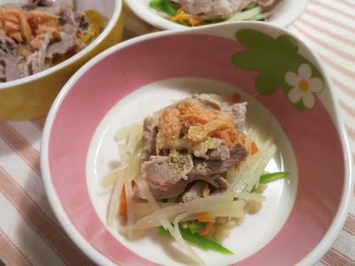 夜ご飯 豚肉とお芋の冷しゃぶ