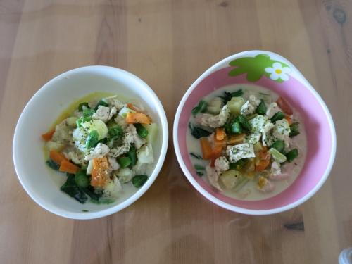 鶏の豆乳スープご飯