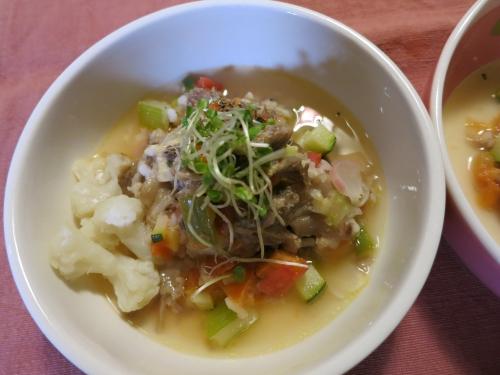 朝ご飯 牛スジテールスープ