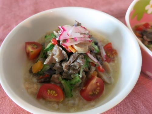 朝ご飯 砂肝のアヒージョ
